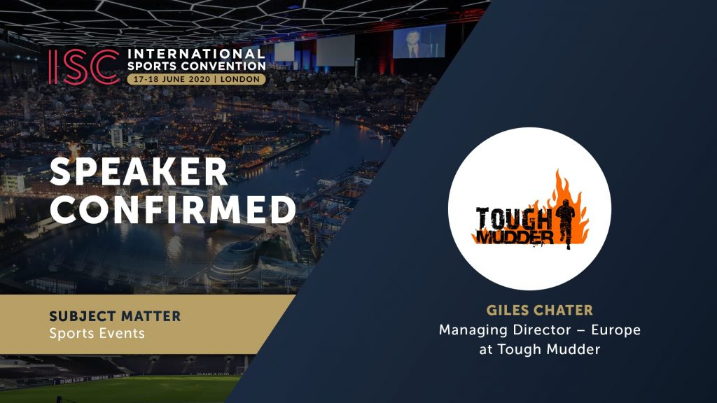 ISC London 2020 - Giles Chater, Tough Mudder