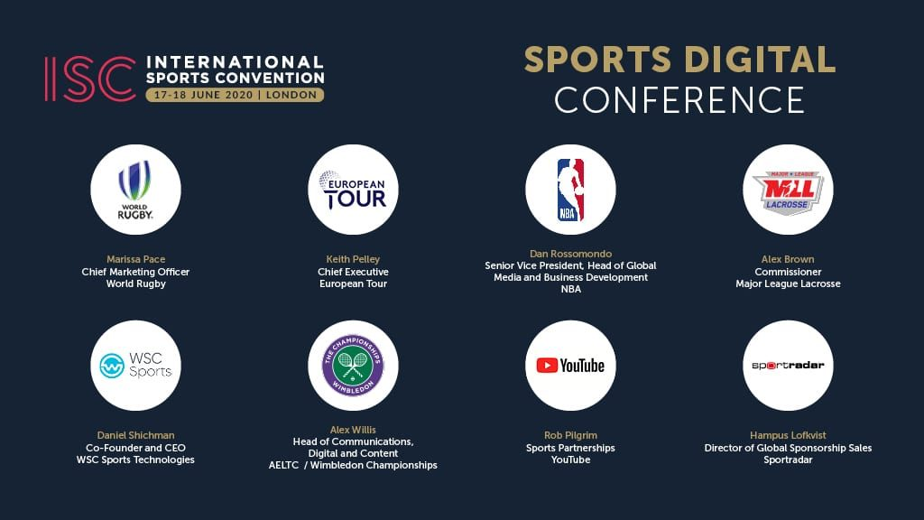 ISC London 2020 Social Graphics - Conference - Sports Digital